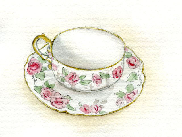 Sweet painted teacup