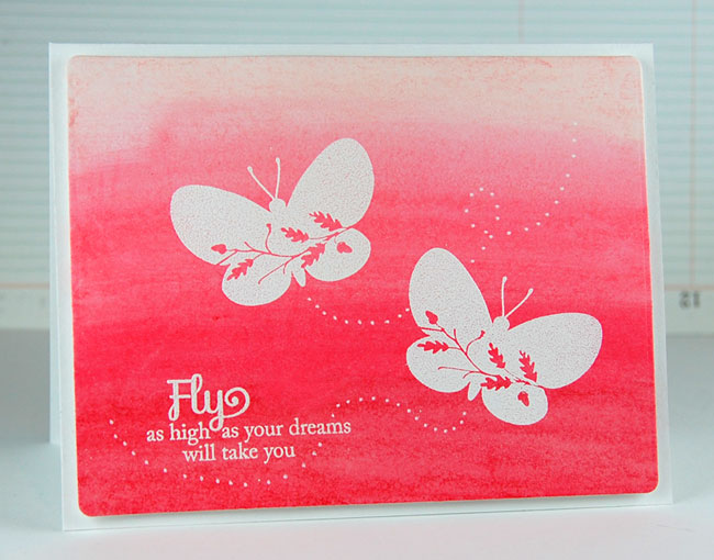 Finished Ombre Card