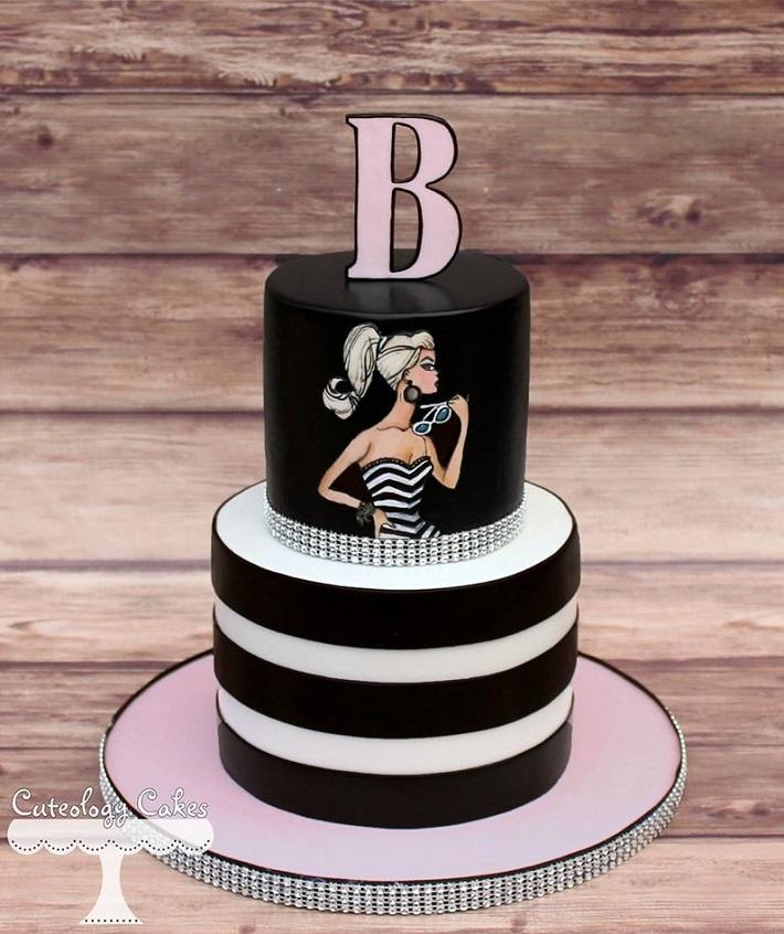 Retro Barbie cake