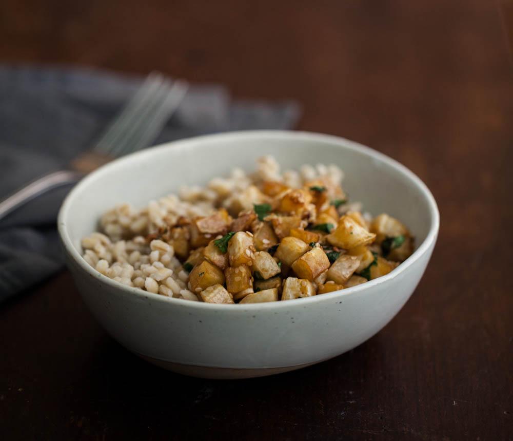 Sesame Roasted Turnips & Barley