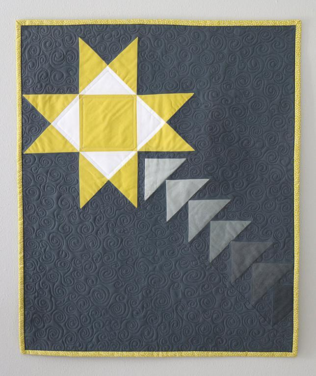 Shooting star mini quilt