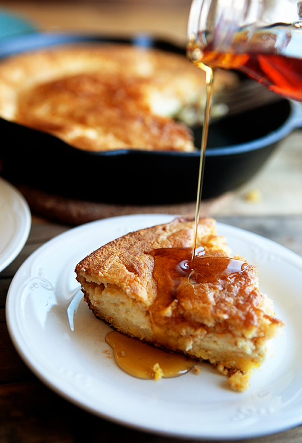 Skillet Corn Bread Pudding