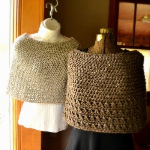 Summer or Winter Capelet Crochet Pattern