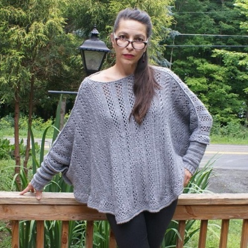 Sweater Poncho Crochet Pattern