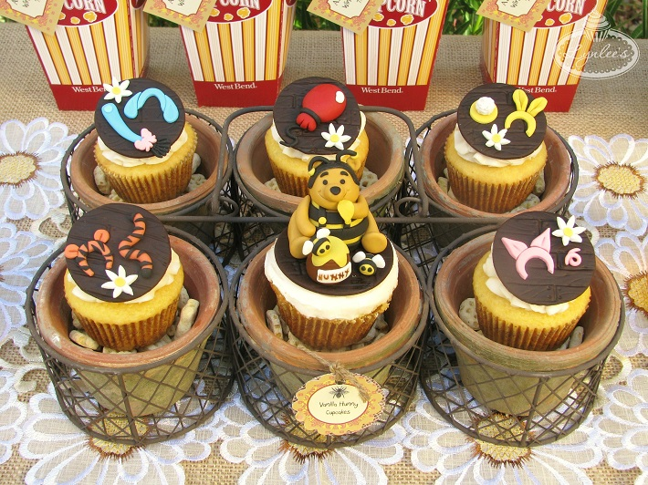 Winnie the Pooh cupcake toppers
