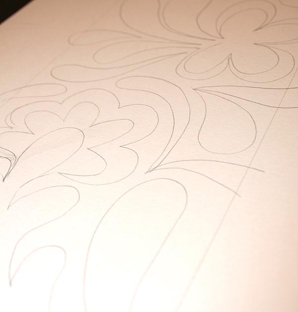 Pencil outline for batik