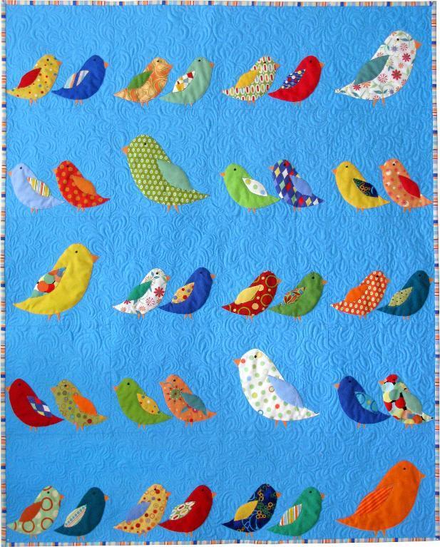 Applique bird wall hanging