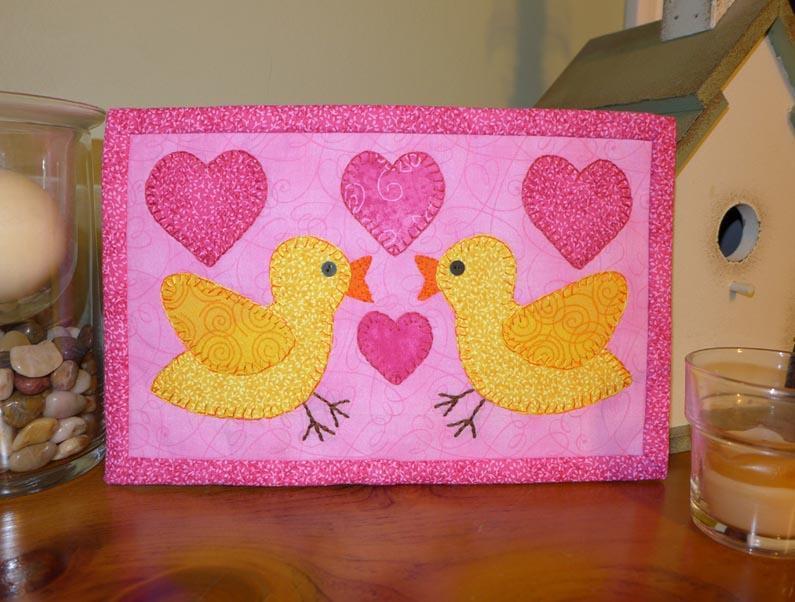 love bird mug rug
