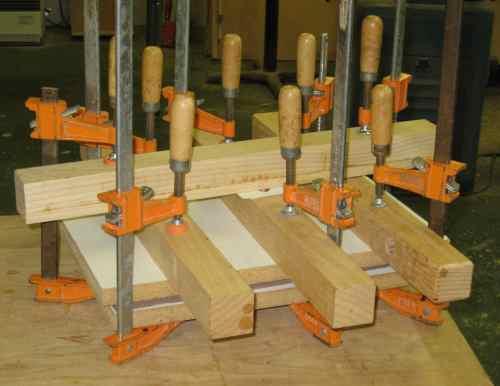 clamping veneer