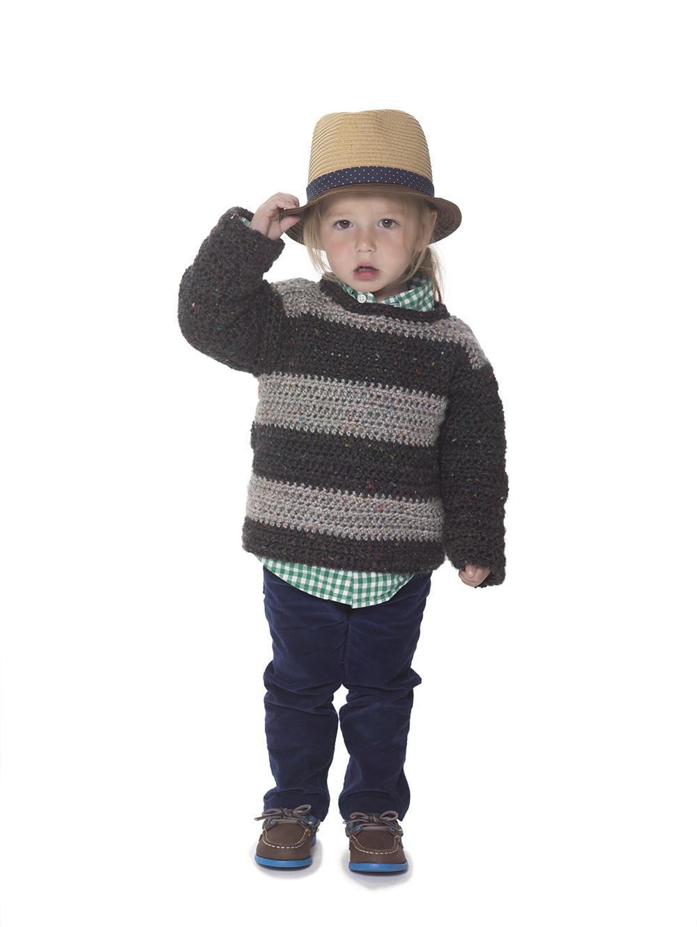 crochet striped sweater