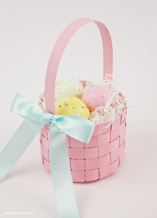 DIY Woven Paper Easter Basket