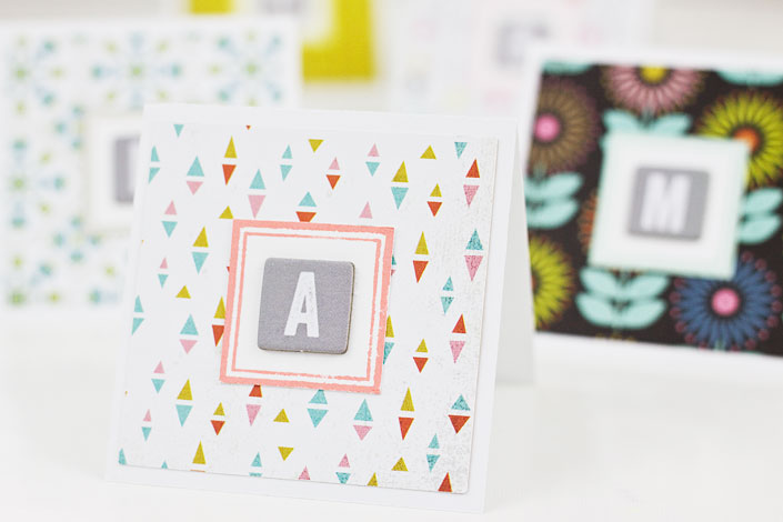DIY Mini Monogram Notecards