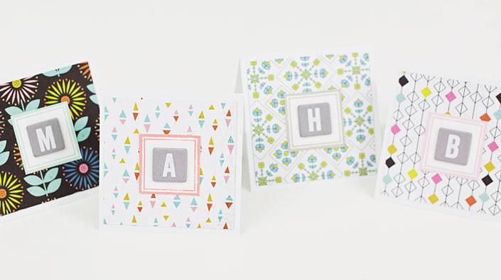 DIY Monogram Mini Notecards Tutorial