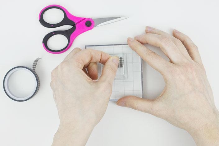 DIY Mini Monogram Notecards, Step 1
