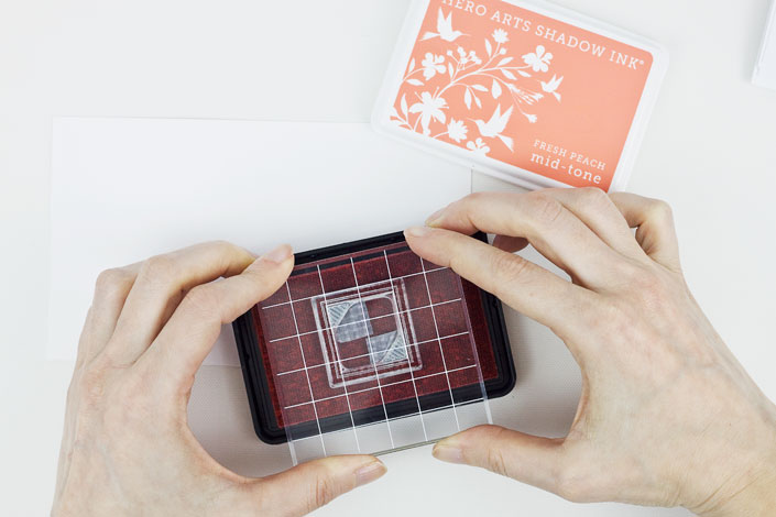 DIY Mini Monogram Notecards, Step 2