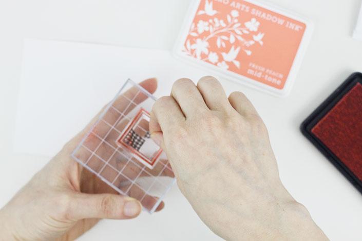 DIY Mini Monogram Notecards, Step 3