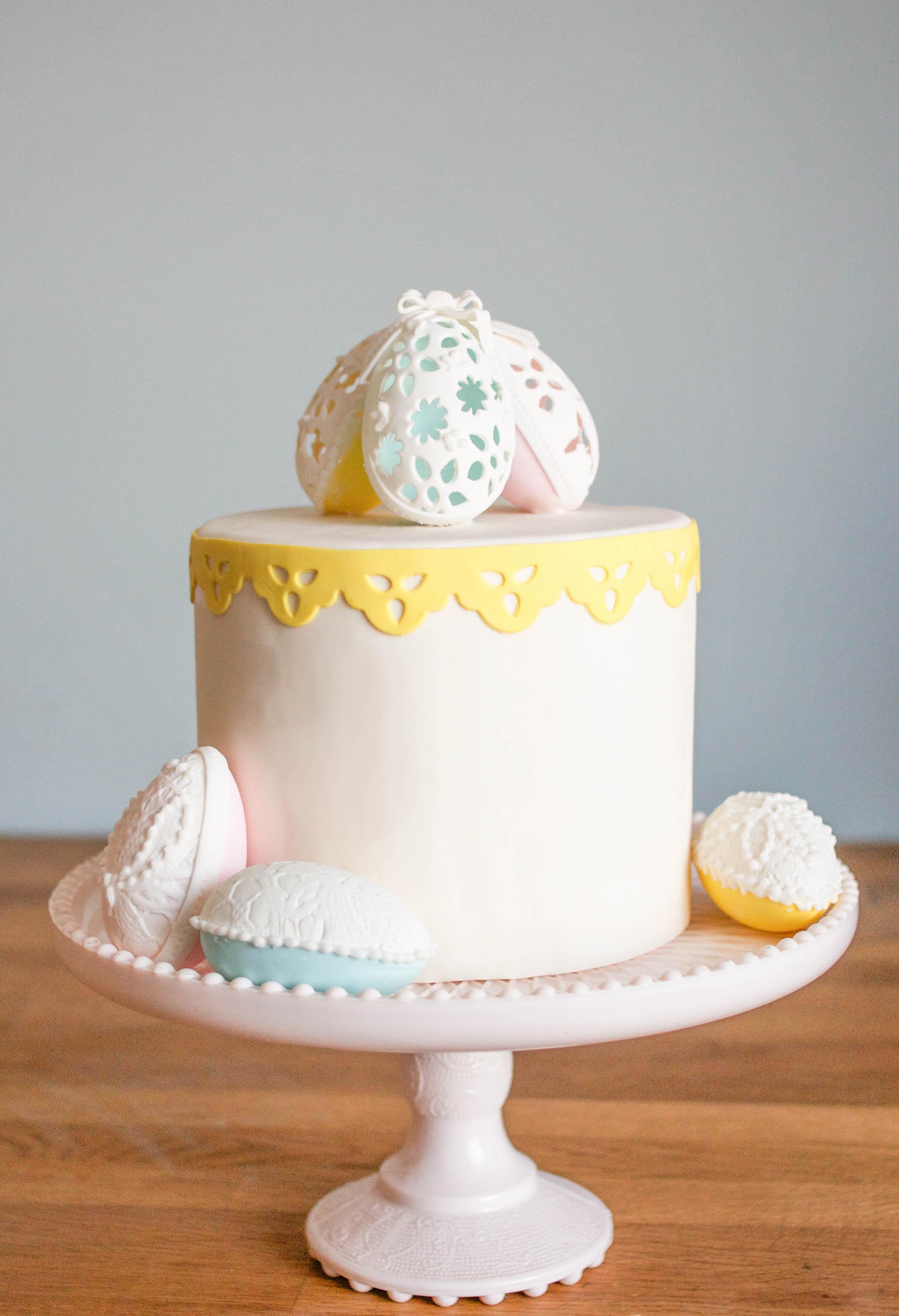 How To Make Elegant Gum Paste Easter Eggs | Erin Gardner