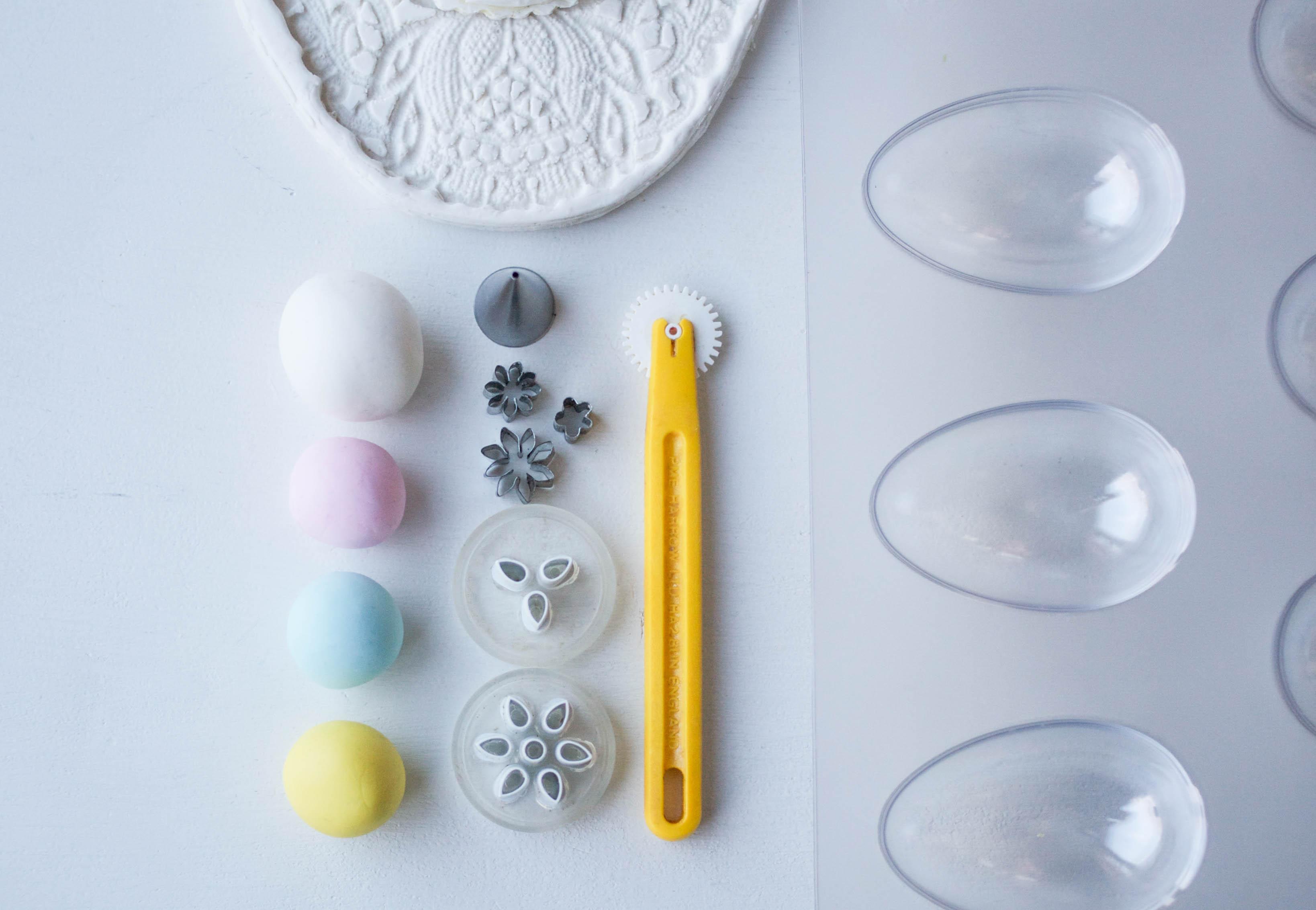 Eyelet & Lace Gum Paste Egg Supplies | Erin Gardner