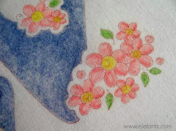 elefantz hand embroidery pencil shading
