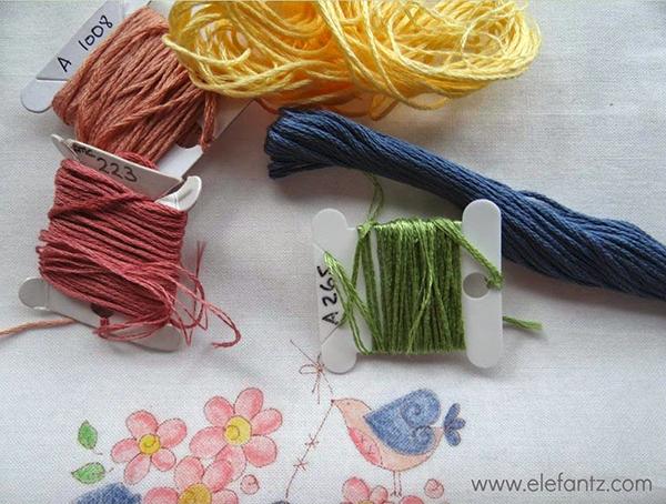 elefantz hand embroidery thread choices