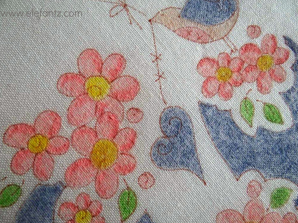 elefantz pencil colored embroidery