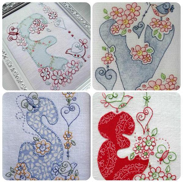 elefantz rosedaisy hand embroidery