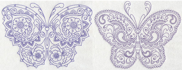 embroidery library mehndi butterfly designs