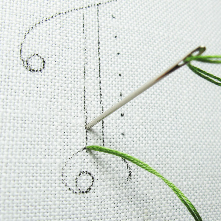 move forward a stitch length on the front