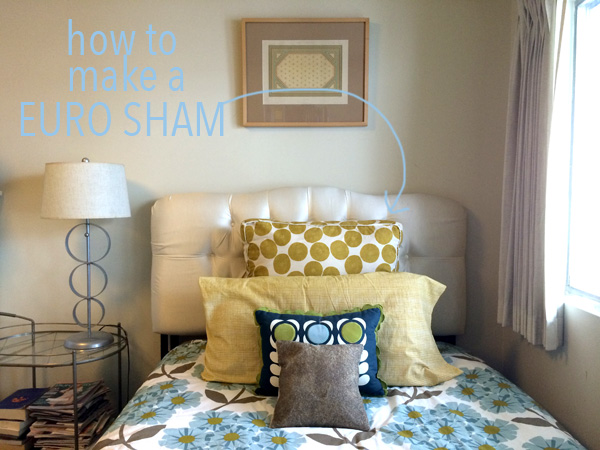 how to make a euro sham