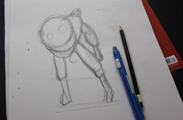 Foreshortening sketch