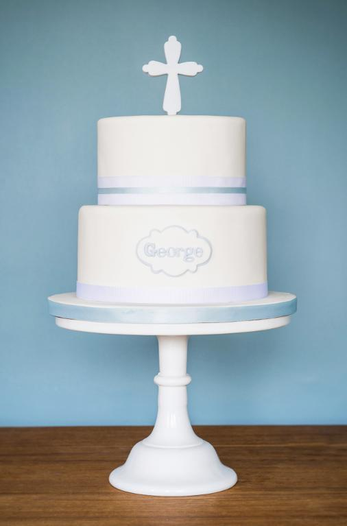 Christening cake by Bluprint member Flourgirl Cakes