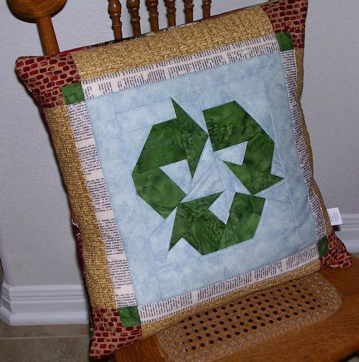 Recycle Quilted Pillow Pattern