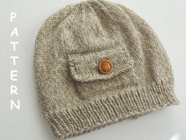 Pocket Hat knitting pattern