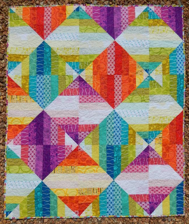 Jelly Roll Quilt - Craftsy Member Pattern