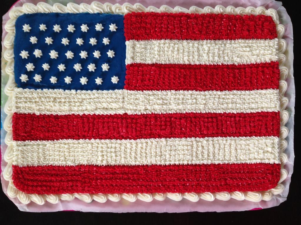 Flag cookie cake