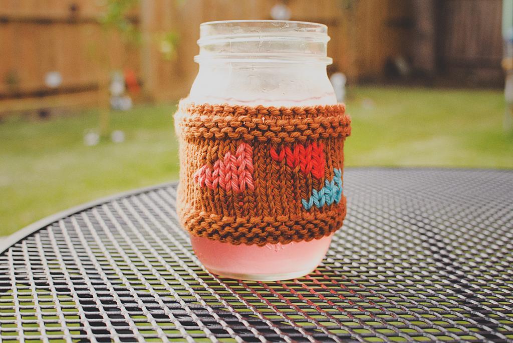 Mason Jar Cozy knitting pattern