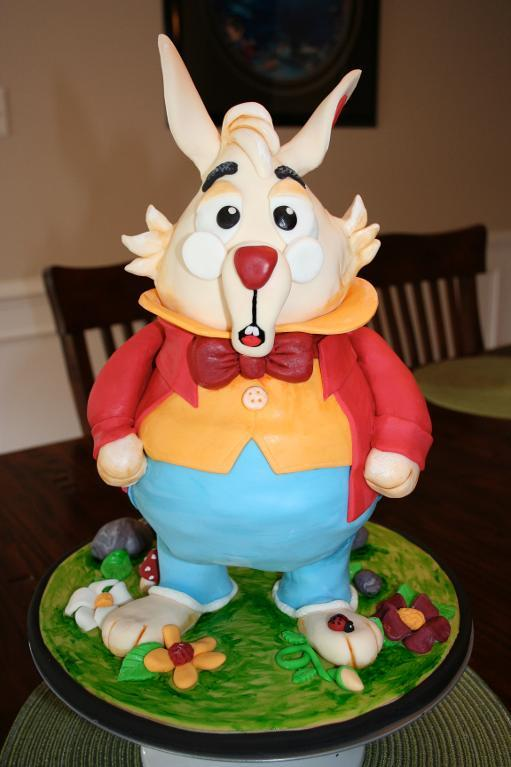 The White Rabbit cake by Bluprint member we4mitch