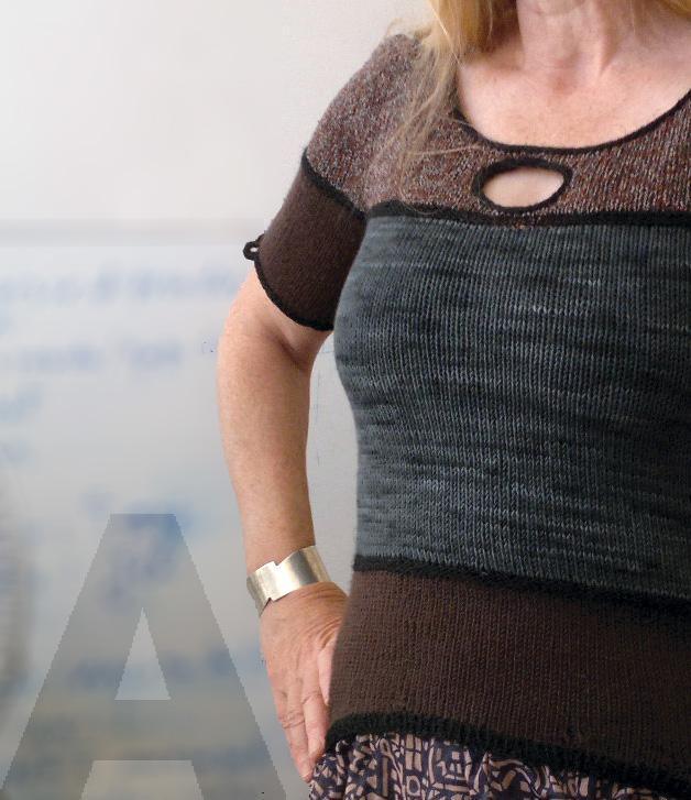 O Tee knitting pattern
