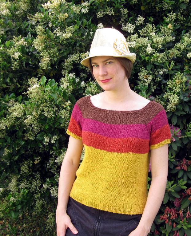 Sunburst Tee knitting pattern