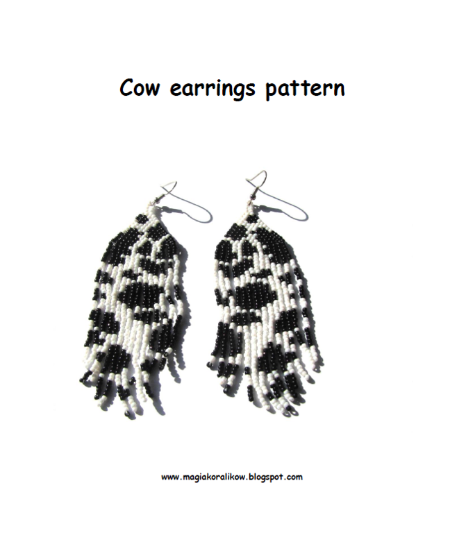 Cow Earrings tutorial
