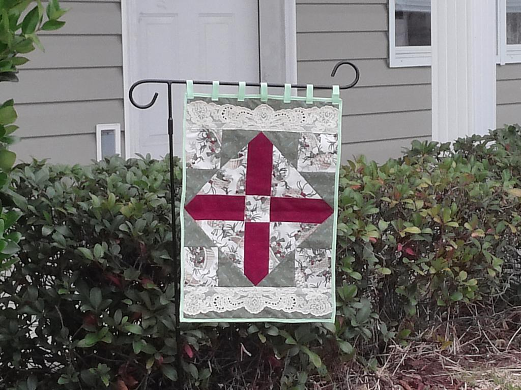 Cross Within a Cross Garden Flag