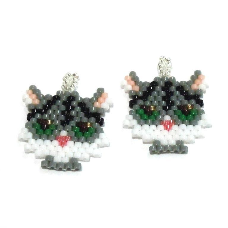 Small Anime Tabby Cat bead tutorial