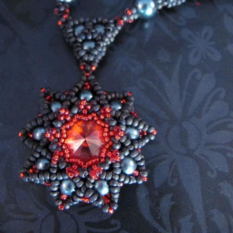 Beadwoven Pendant 'Wishing on a Star'