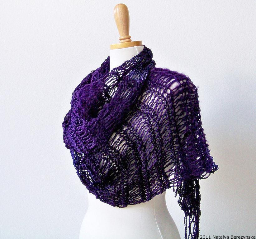 Knit Drop Stitch Scarf knitting pattern