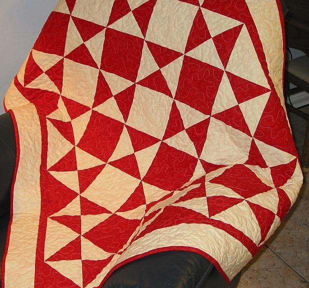 Triangles Galore Lap Quilt Pattern