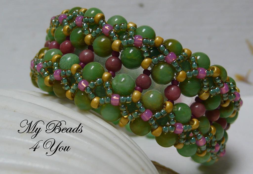 Desert Bloom in Green Bracelet