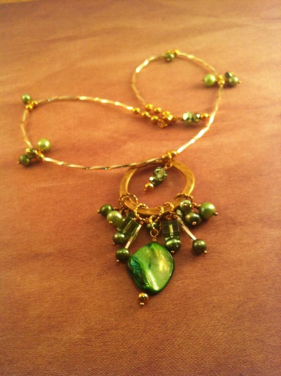 Circle of Green Necklace