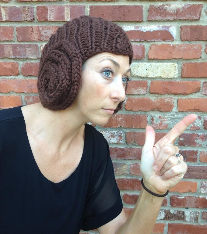 Princess Leia Bun Hat knitting pattern