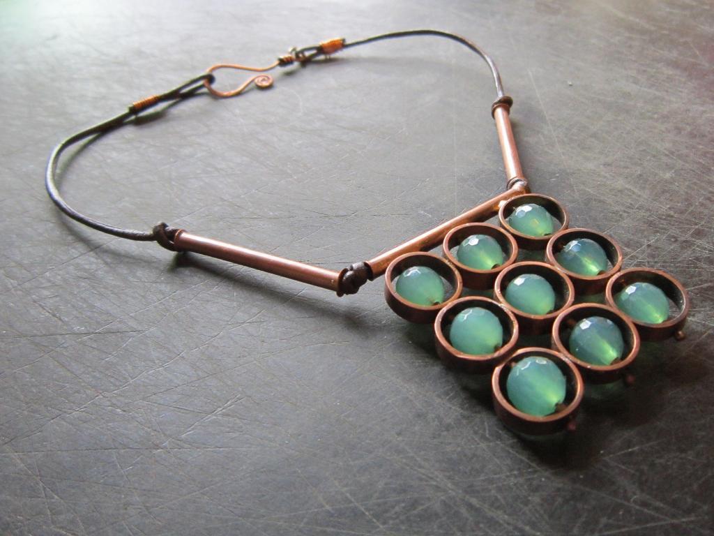 Geometric Ocean Necklace