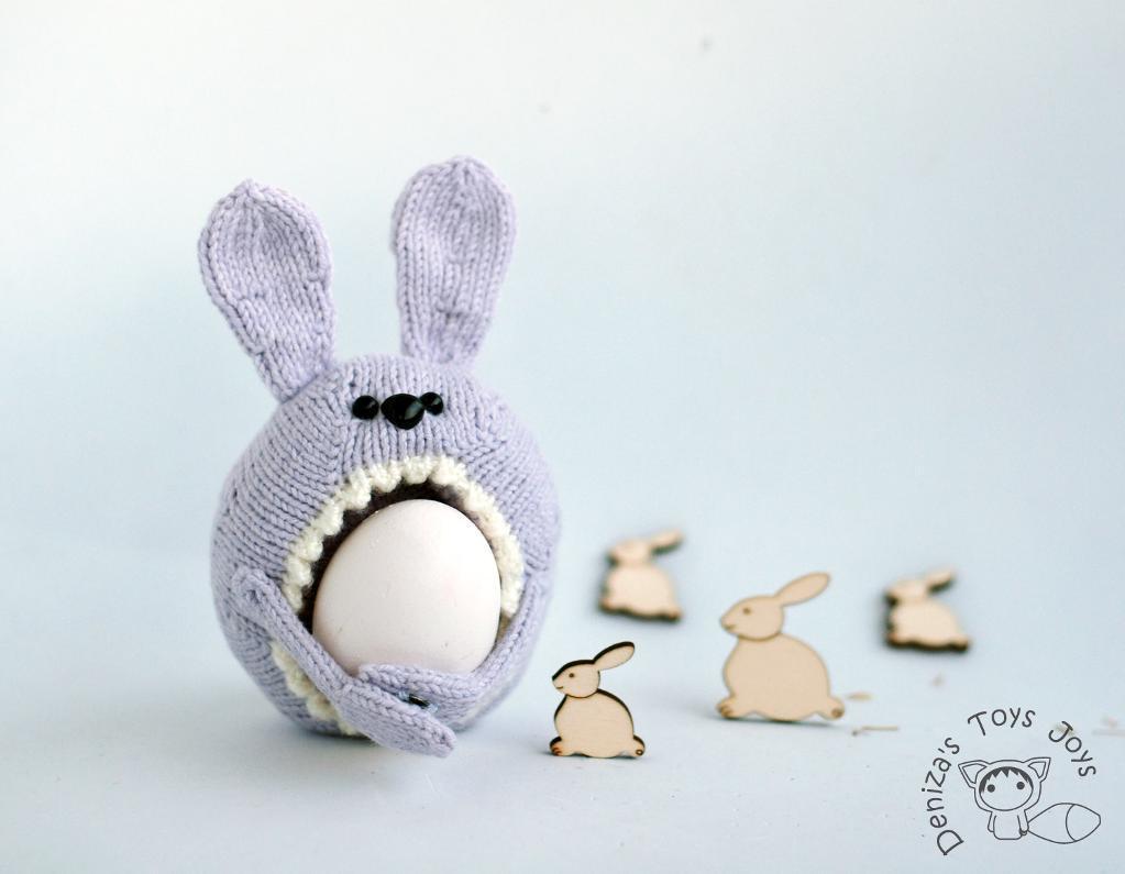 Sweet Bunny Easter Egg Holder knitting pattern